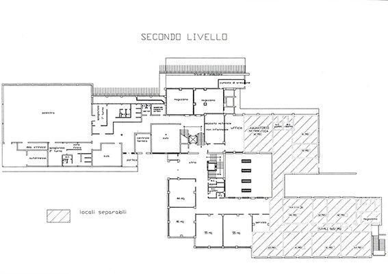 La piantina degli uffici dell'Unep che saranno collocati al Pannaggi