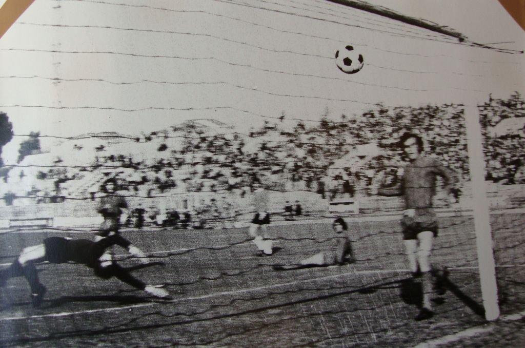 Il gol decisivo di Sentimenti alla Civitanovese nel derby della stagione 1975/76