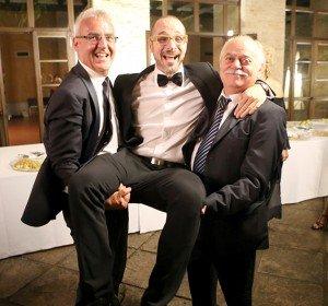 Il sindaco Carancini e il presidente della Provincia Pettinari con il direttore artistico Francesco Micheli alla fine della stagione 2013