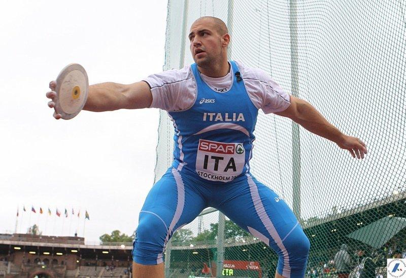 Giovanni Faloci, lancio del disco