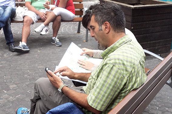 Turisti in visita a Macerata