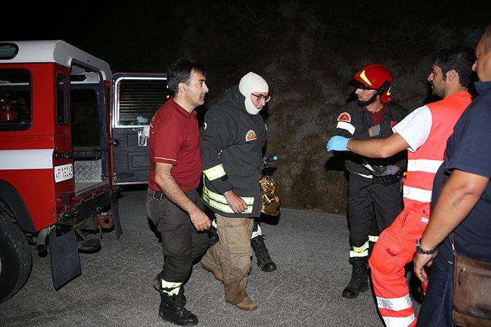 Edoardo Lastrico soccorso dai vigili del fuoco e dal personale del 118