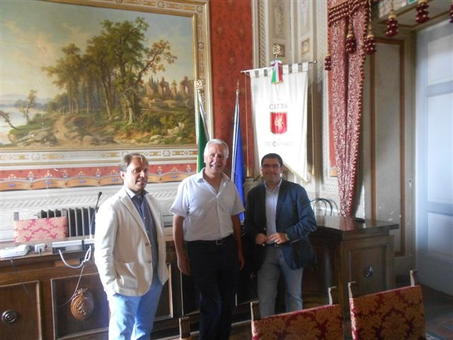 Eugenio Giani in visita a Recanati