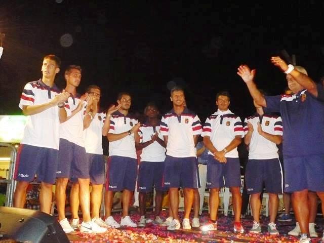 La presentazione della squadra in piazza XX Settembre