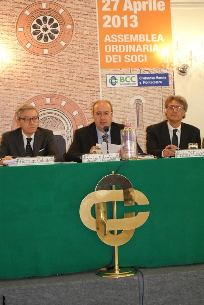 Da sinistra: il Direttore Generale Giampiero Colacito, il Presidente Sandro Palombini e il Vice Direttore Fabio Di Crescenzo