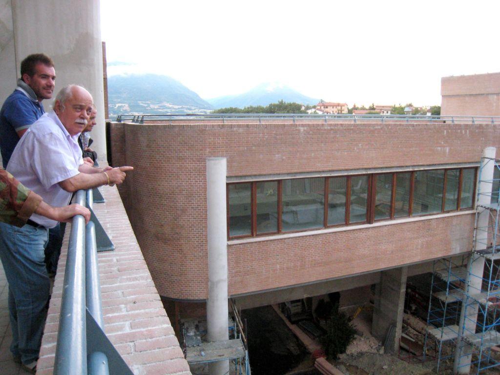 Il Presidente Antonio Pettinari, durante l'ultimo sopralluogo nel Campus