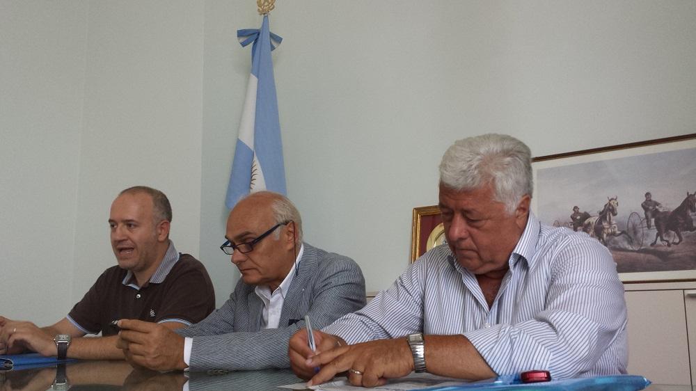 Da sinistra: Fabrizio Ciarapica, Massimo Mobili e Ottavio Brini