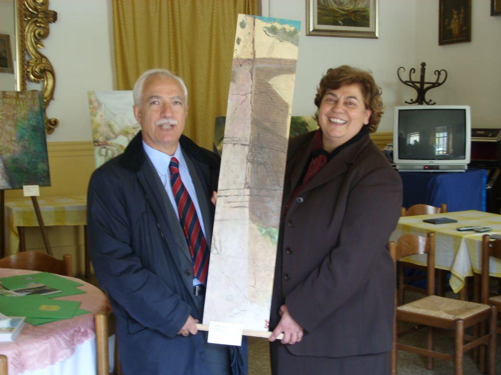 Giuseppe Ferrara e la giornalista Andreina De Tommasi