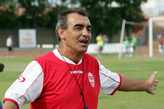 L'allenatore della Maceratese Guido Di Fabio