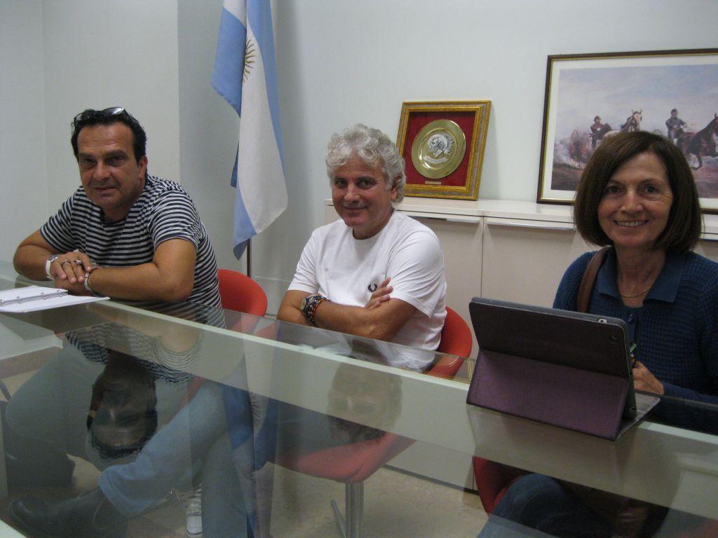 da sin. Piero Gismondi, Paolo Ruggeri e Annamaria Venanzoni