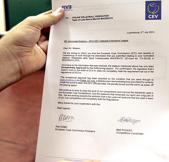La lettera della CEV