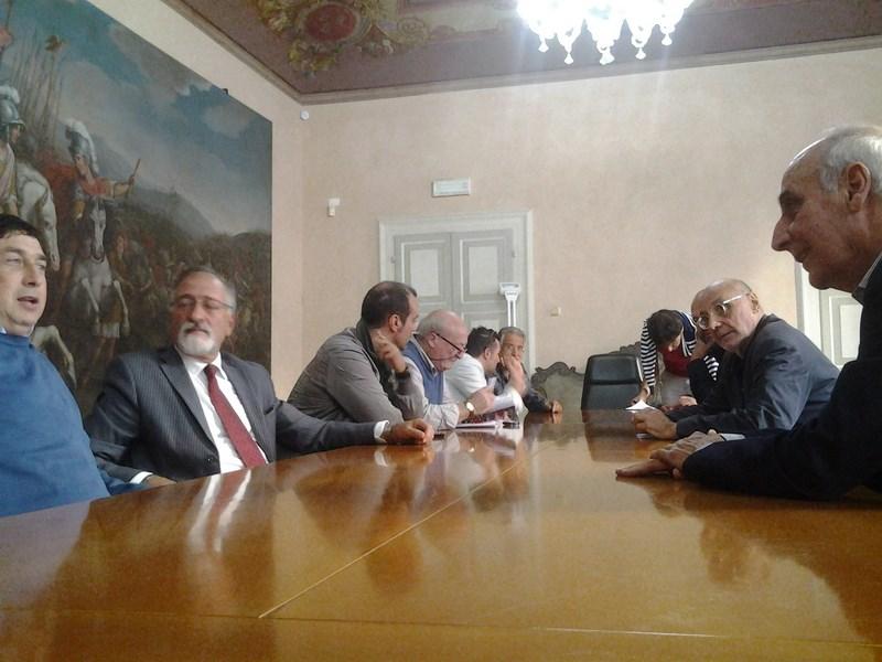 I sindaci presenti all'incontro di oggi a Camerino