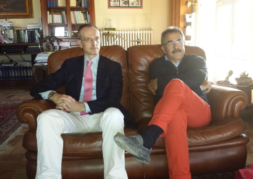 A sinistra l'avvocato Renato Coltorti, nuovo presidente di Camera penale, e Vando Scheggia, presidente uscente