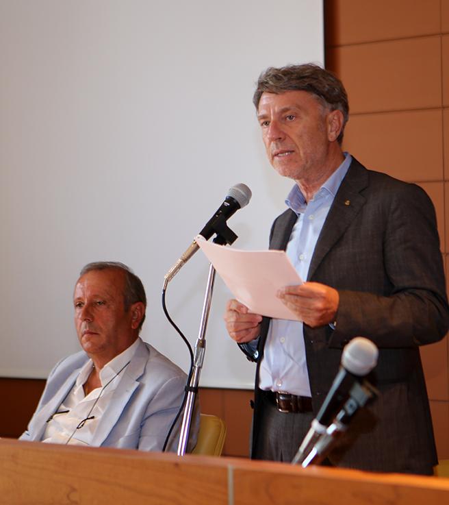 L'intervento in assemblea del presidente del Cosmari, Daniele Sparvoli