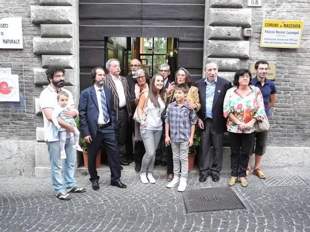 La famiglia Bernocchi e la famiglia del museo di storia Naturale, con Romano Dezi e Cesare Rastelli