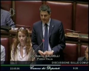 Simone Baldelli, deputato di Forza Italia