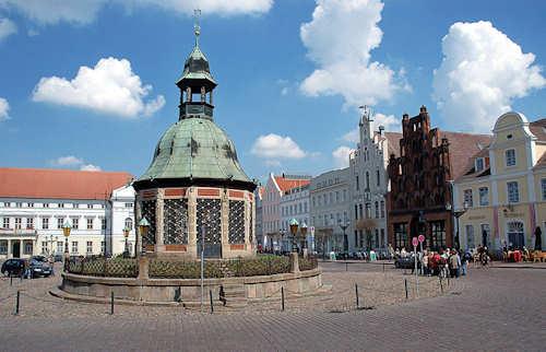 La piazza di Wismar