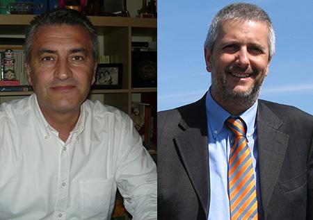 Fausto Cavalieri (a sinistra) e Sergio Pasquali si sfidano alle primarie del centrosinistra