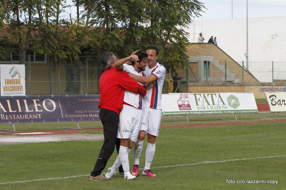 L'attaccante della Civitanovese Cristian Pazzi