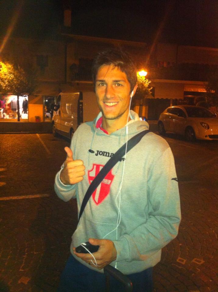 Federico Melchiorri con la maglia del Padova