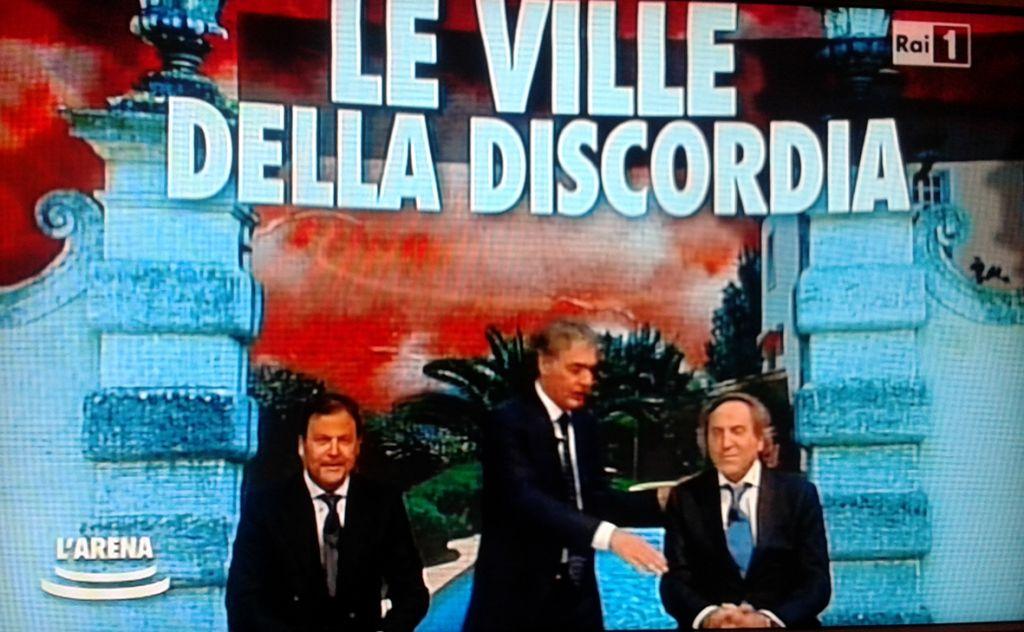 Donato Giannini e Daniele Maria Angelini oggi a L'Arena di Giletti