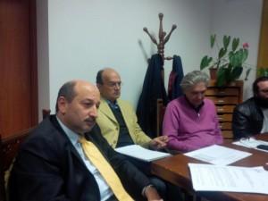 L'assessore Ricotta, il direttore Schiaffi e il presidente Centioni durante un'iniziativa dell'Ircr