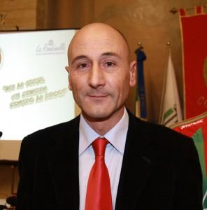 Il presidente del Corridonia Sandro Procaccini
