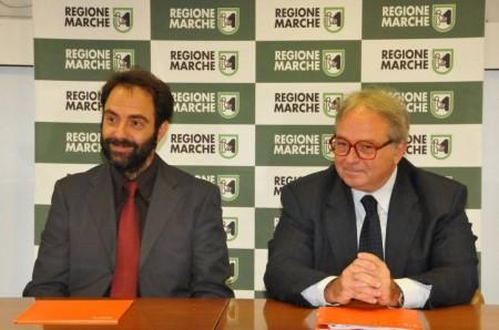 Neri Marcorè e Gian Mario Spacca