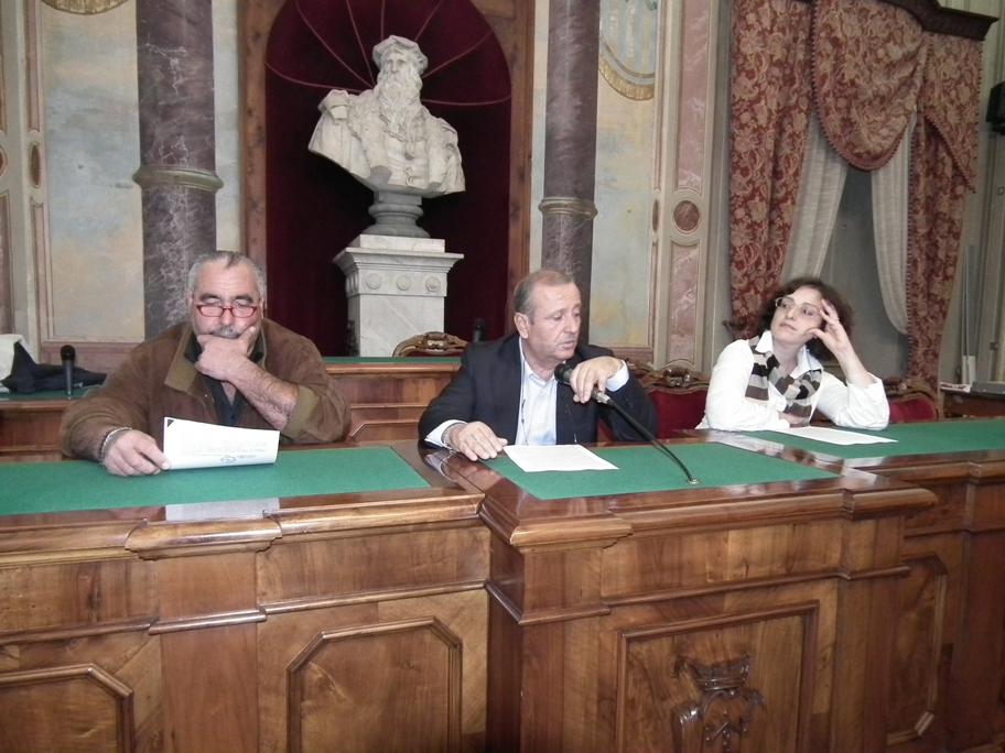 La presentazione del nuovo sistema presso la sala Consiglio del Municipio