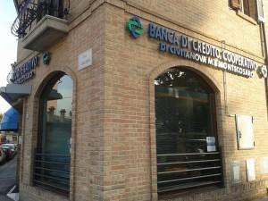 La filiale Bcc di via Corridoni a Civitanova Alta