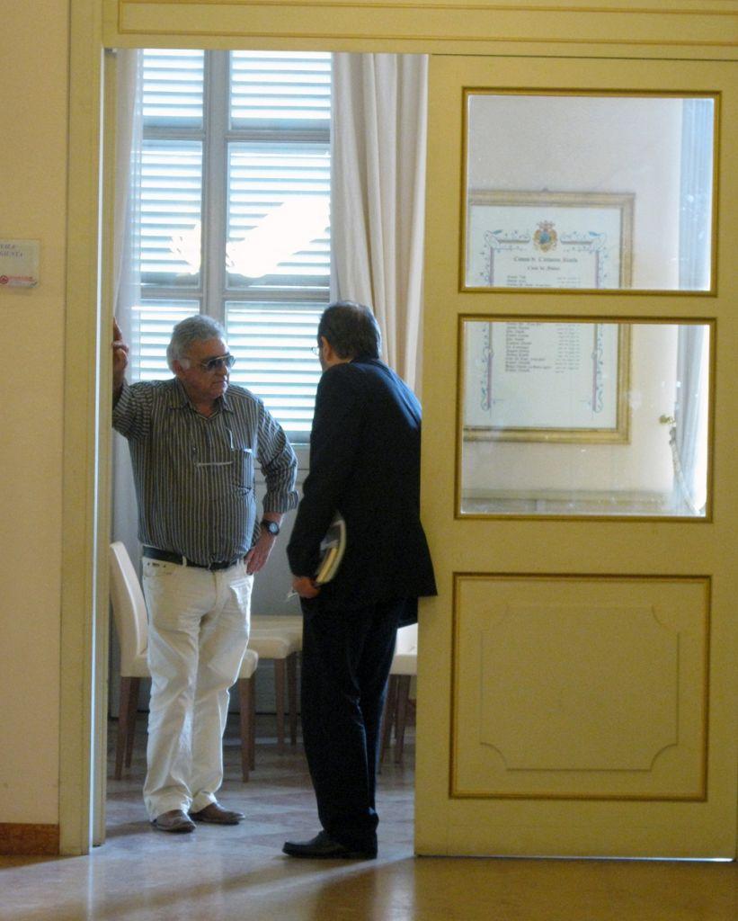 Il Presidente delle farmacie Carlo Centioni con Ivo Costamagna