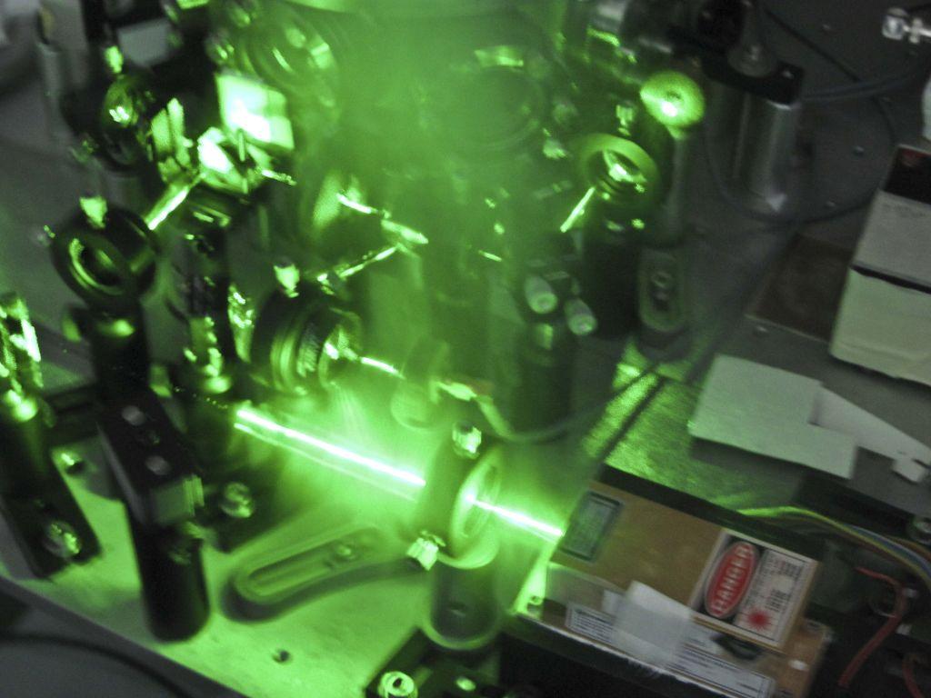 Un laser del laboratorio di Di Giuseppe