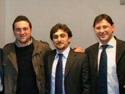 I due consiglieri Andrea Mozzoni e Corrado Speranza, con un responsabile UNPLI