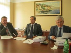 da sinistra Franco Sagretti amministratore Icoc, Mauro Ballandi presidente e l'avvocato Guerrino Ortini