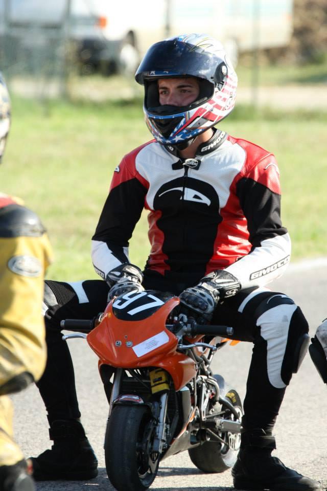 Stefano Filippi sulla sua moto