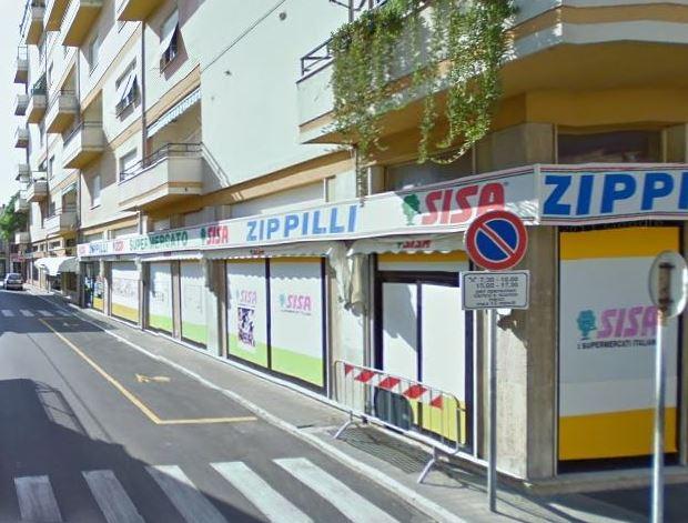 Il supermercato Sisa di via Mazzini