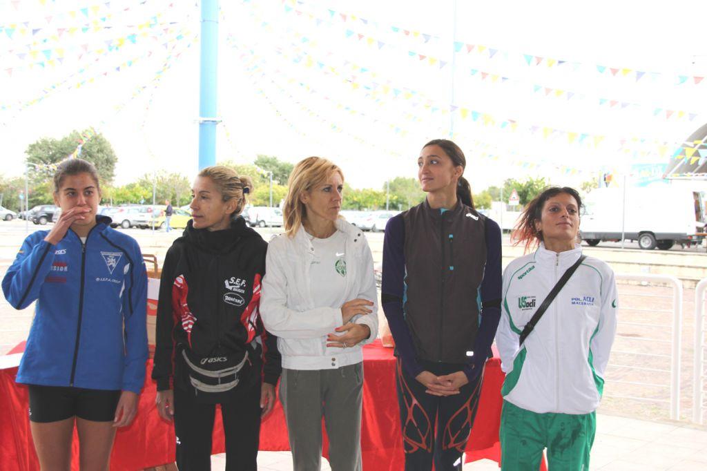 7 -Le prime cinque atlete classificate