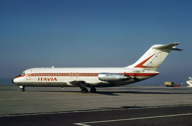 Il Dc-9 Itavia abbattuto sopra il mare di Ustica