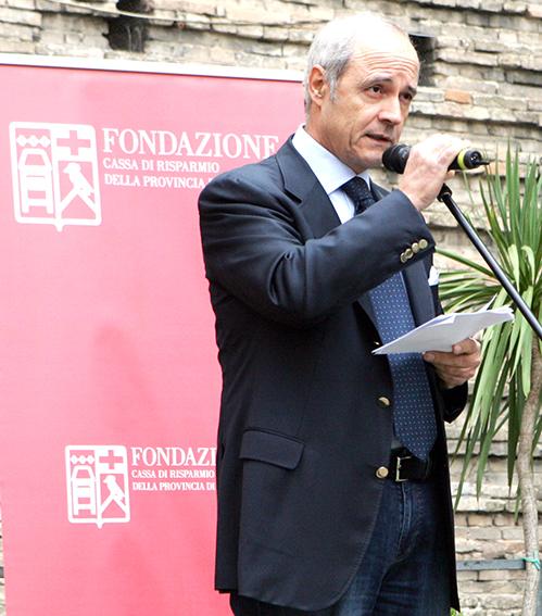 Il presidente della Fondazione Carima, Franco Gazzani