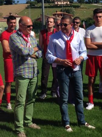 Il presidente Mauro Canil insieme al vice presidente Carlo Dolce