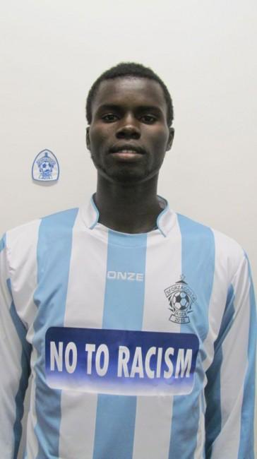 Kabe Gaye, dal Senegal. E' uno dei nove stranieri che giocano con lo Sforzacosta