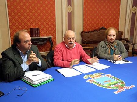 Giorgio Palombini, Antonio Pettinari e Carla Scipioni