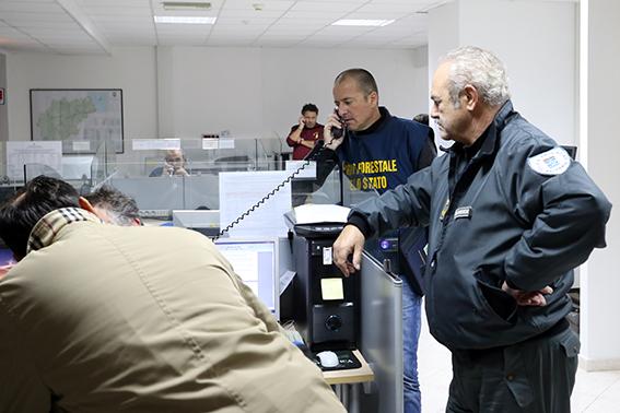 La sala operativa della Protezione civile
