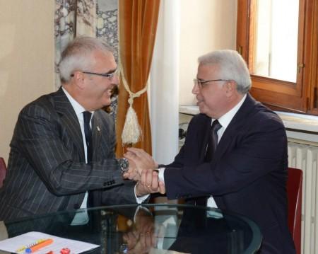 Il sindaco Carancini e il professor Imad Khati