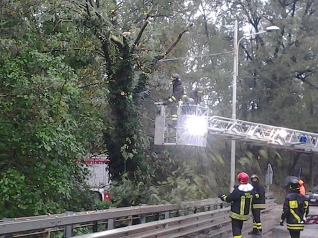 L'intervento dei vigili del fuoco a Camporotondo di Fiastrone