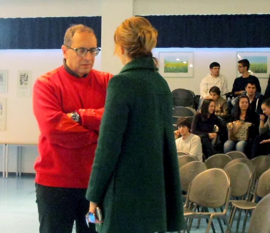 Il sindaco Corvatta insieme con Simona Bonacci della Ica spa