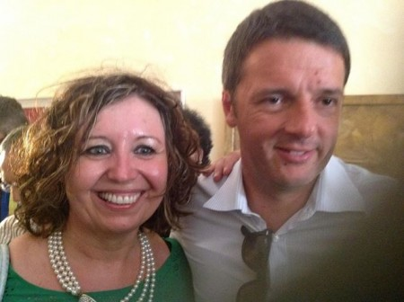 Il neo segretario provinciale Teresa Lambertucci con Matteo Renzi