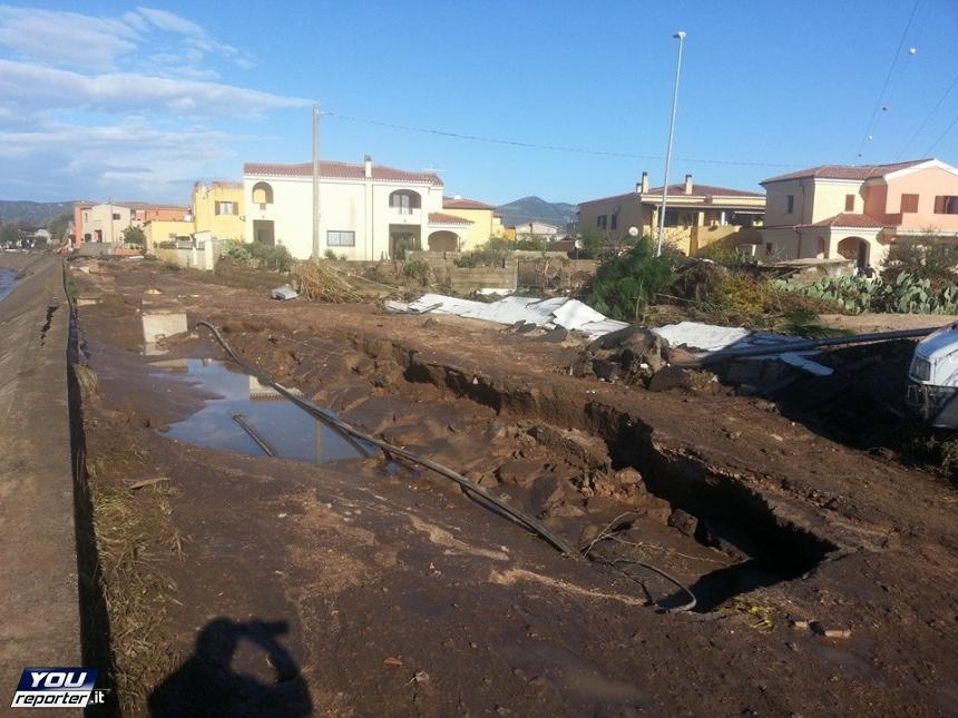 Un'immagine di oggi delle zone colpite dall'alluvione (Fonte: youreporter.it)