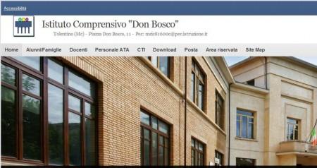 Il sito on line dell'istituto scolastico