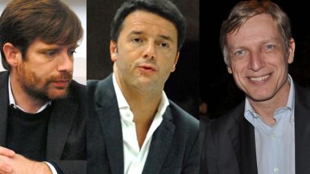 Pippo Civati, Matteo Renzi, Gianni Cuperlo